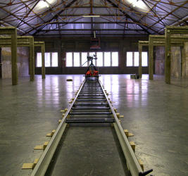 Production picture of the video Thru (2003) by Peter Downsbrough